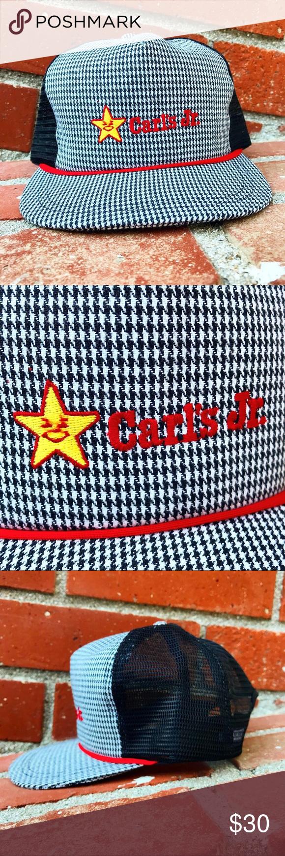 Vtg Carl's Jr. Fast Food Trucker Snapback Still in really