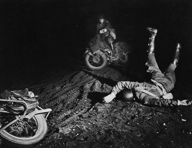 Wartime photographer W. Eugene Smith captures a motorcycle accident.