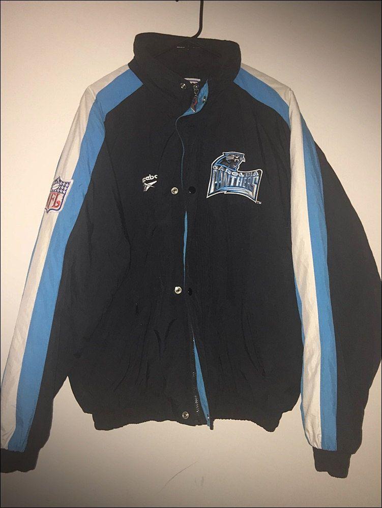 4be2f5721 Vintage 90 s Reebok NFL Carolina Panthers Pro Line Coat - Size Large XL by  RackRaidersVtg on Etsy