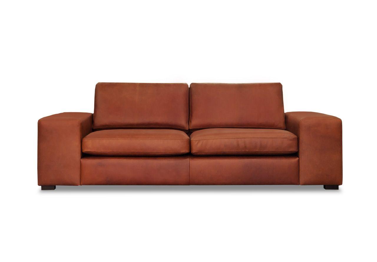 charlie sofa 2 5 sitzer leder vintage cognac avandeo. Black Bedroom Furniture Sets. Home Design Ideas