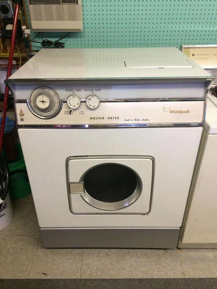 Vintage 1958 Rca Whirlpool Combination Washer Dryer Combo Washing