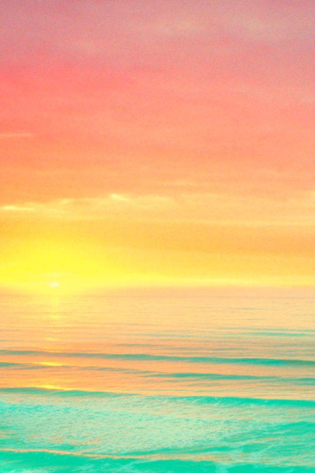 Beautiful Sunset Colors At Ocean