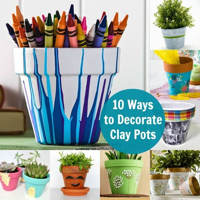 10 Unique Ways to Decorate Clay Pots | Flower pot crafts ...