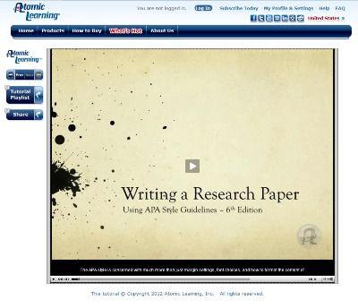 Research paper writing tutorial    www srar com