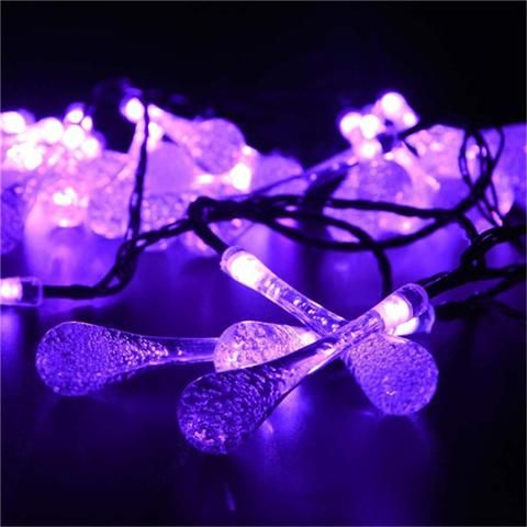 Premium Quality 6m 30 LED Solar Christmas Lights 8 Modes Waterproof - solar christmas decorations