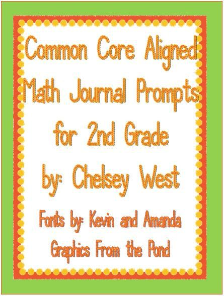 Math Journal Prompts for Your 2nd Grade Classroom (CC Aligned) on Etsy, $4.00