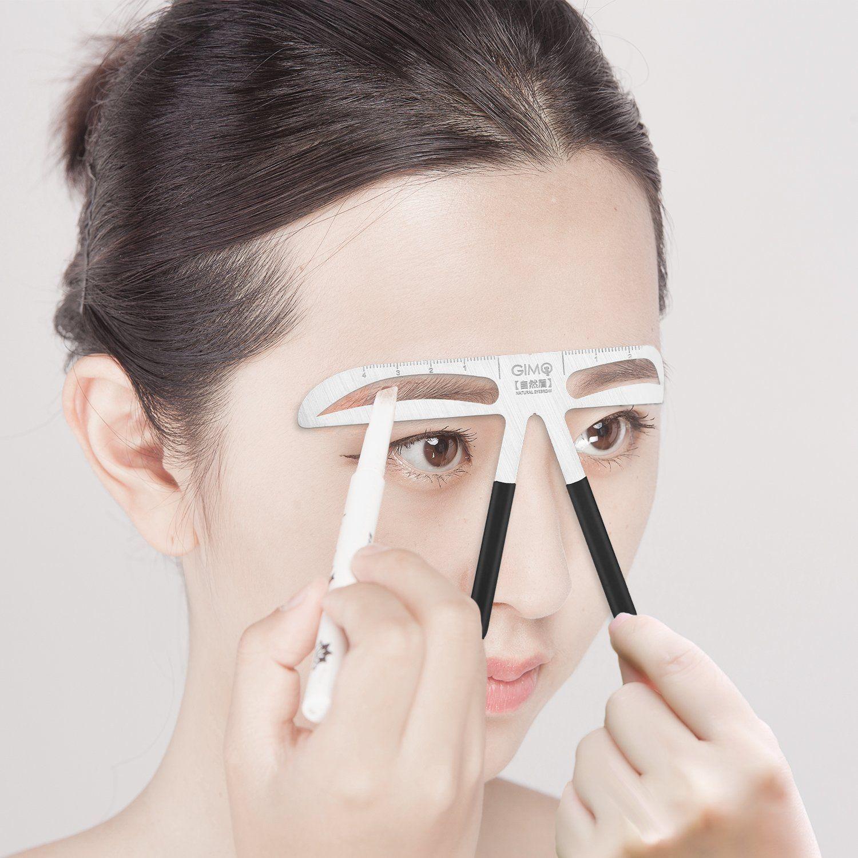 Eyebrow stencil ruler for eyebrows enhancer permanent