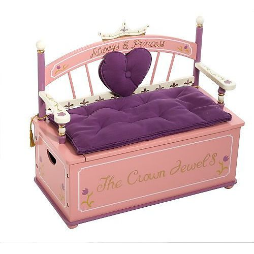 Princess Toys Box Storage Kids Girls Chest Bedroom Clothes: Princess Toy Box Bench