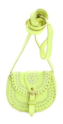 Cleobella mini cantina cross body bag. Neon yellow. Yes please.