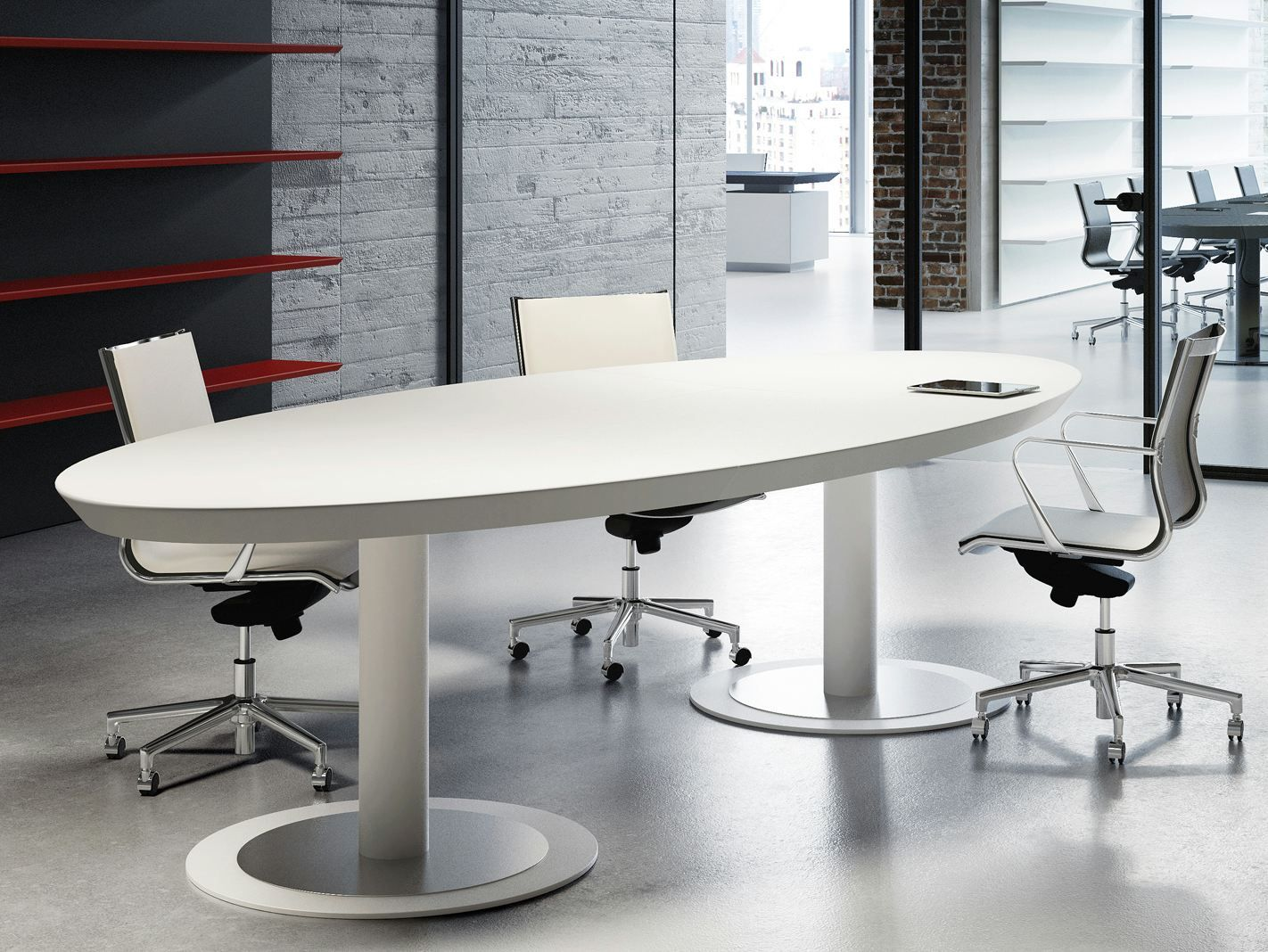 Multipliceo Oval Meeting Table By Fantoni Office Furniture Modern Meeting Table Conference Table