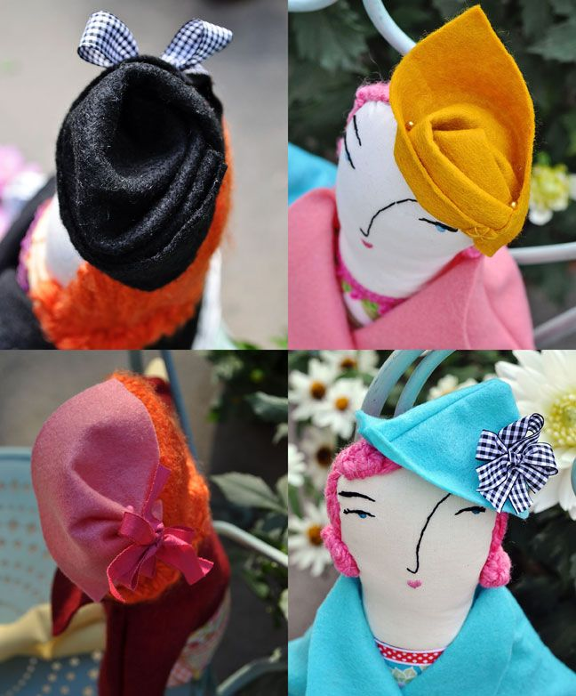 Doll hats on the Teacup Incident blog.