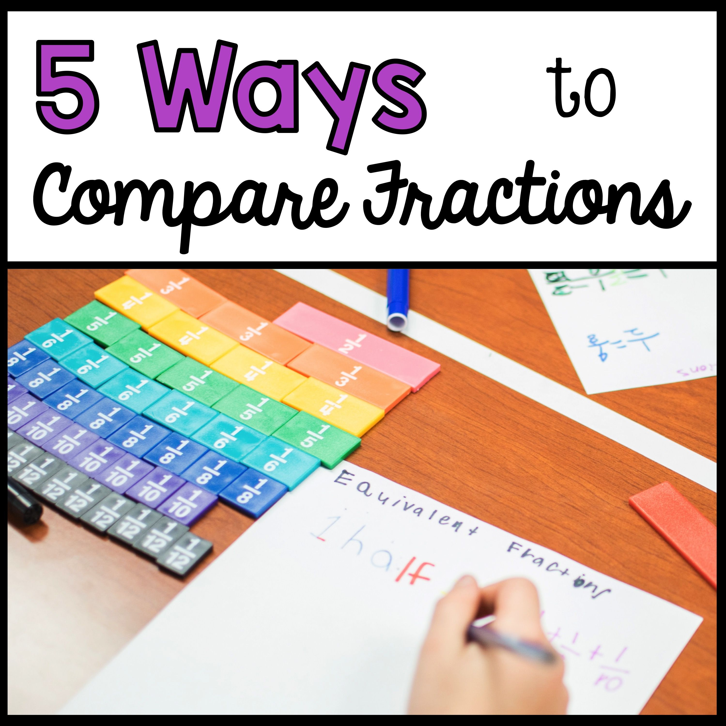 5 Ways To Compare Fractions