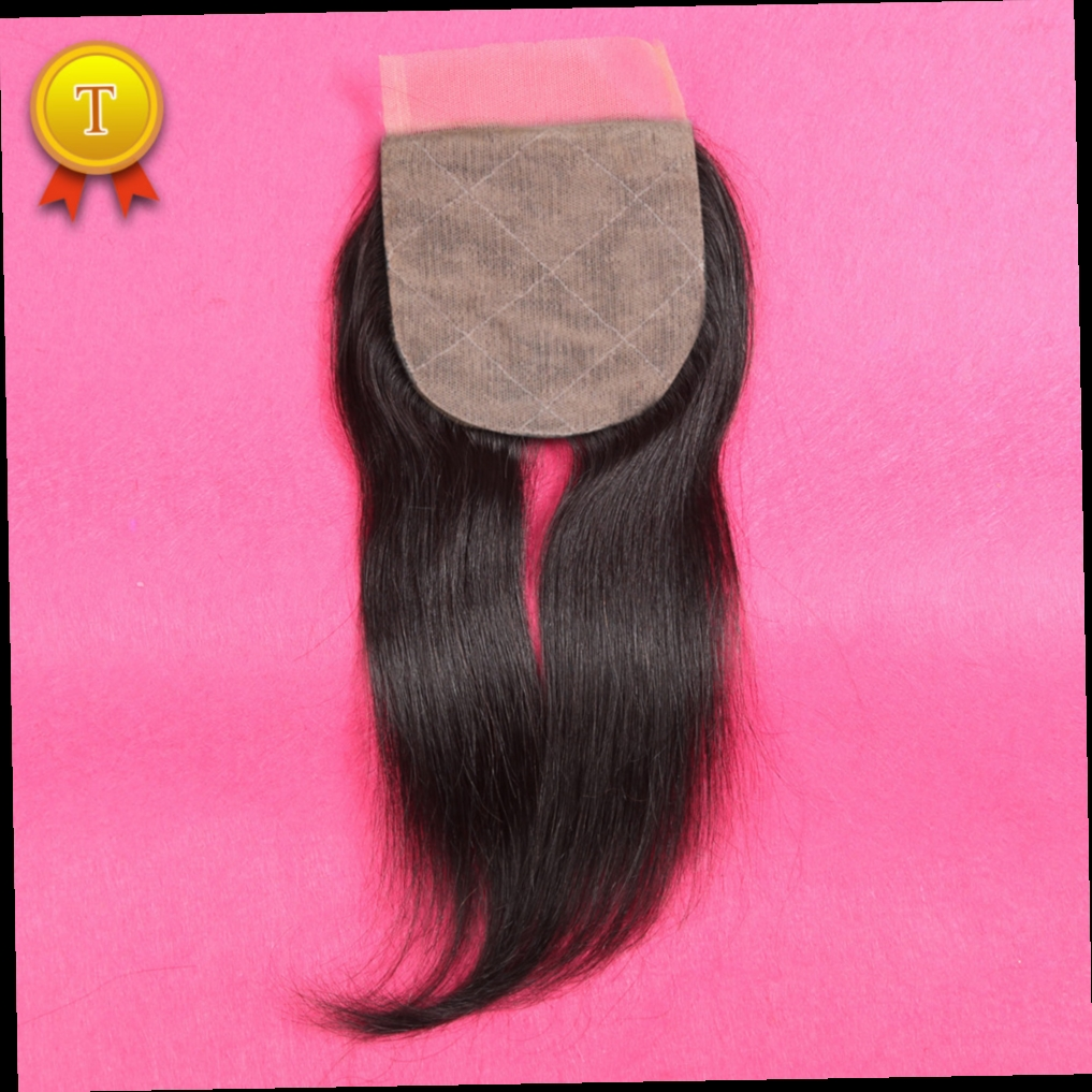 46.11$  Buy here - http://alibne.worldwells.pw/go.php?t=32511337012 - 7A Thick Ends Virgin Brazilian Silk Base Closure Straight Middle/Free/3 Part Silk Closures Unprocessed Human Silk Lace Closure 46.11$