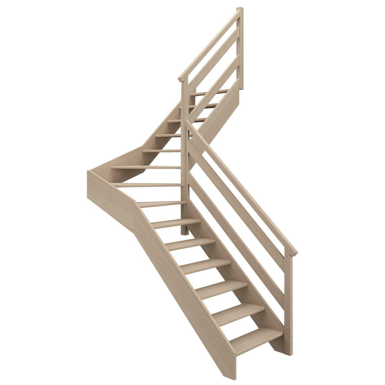 Escalier 1 4 T Milieu Droit Bois Hetre Soft Wood Scm 14 Mar Hetre L 81 9 En 2020 Escalier Escalier Quart Tournant Bois Hetre