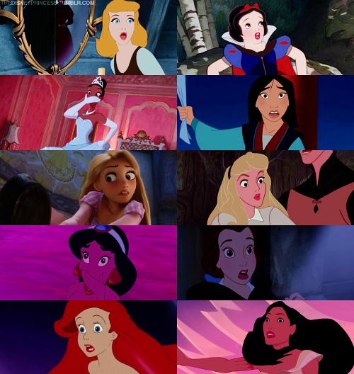The worried faces of our Disney princesses!   Every girl ...