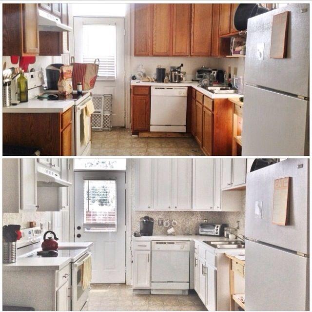 Before & After: $387 Budget Kitchen Update | Kitchen updates ...