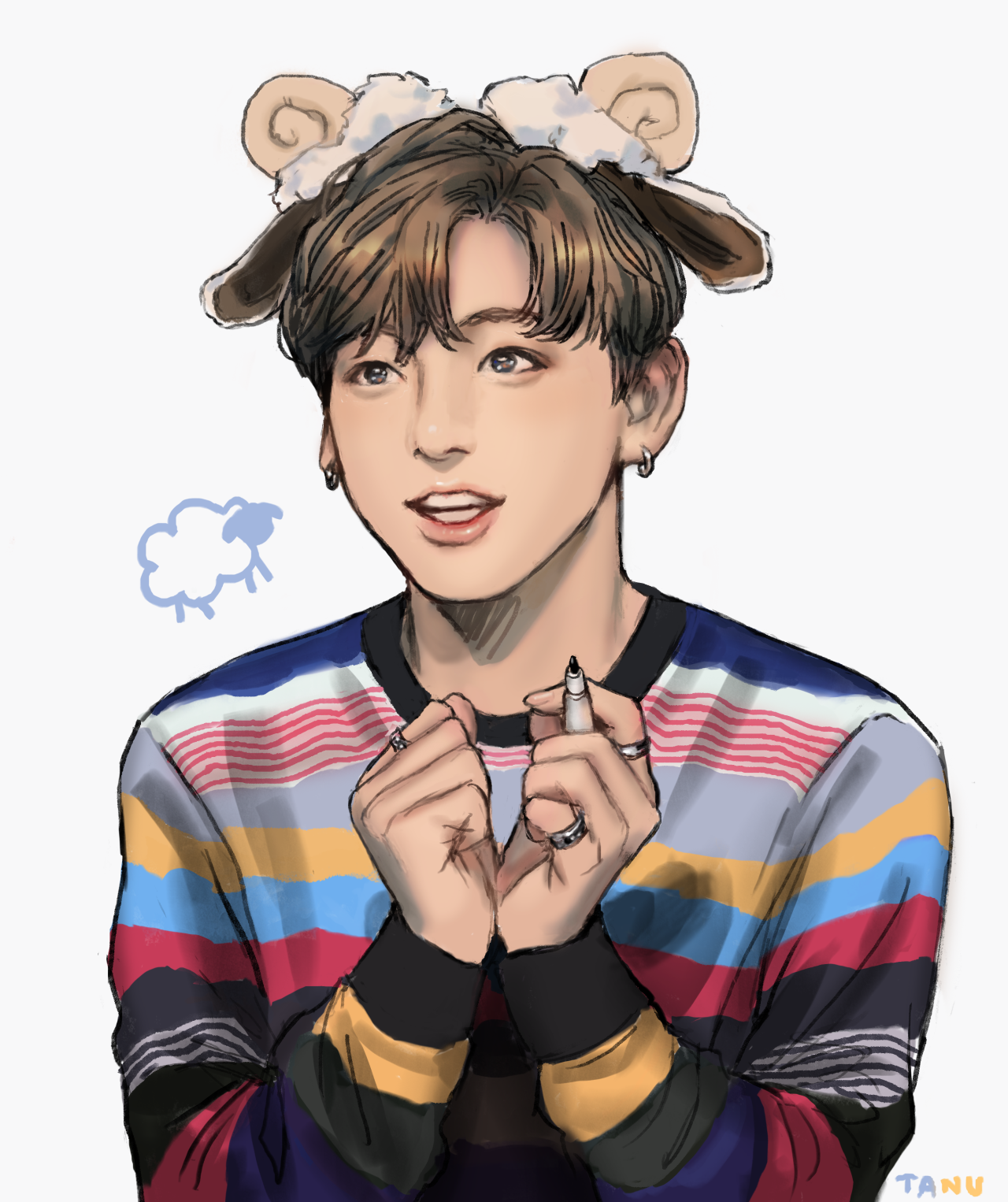 Jungkook is so gyio Jungkook Pinterest BTS, Fanart