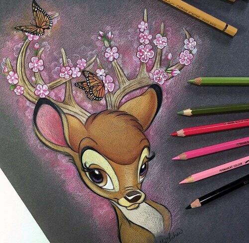 Pin De 𝓟𝒶𝓉𝓎 En Deer Loves Dibujos Bonitos Dibujos De Disney A Lapiz Dibujos Impresionantes