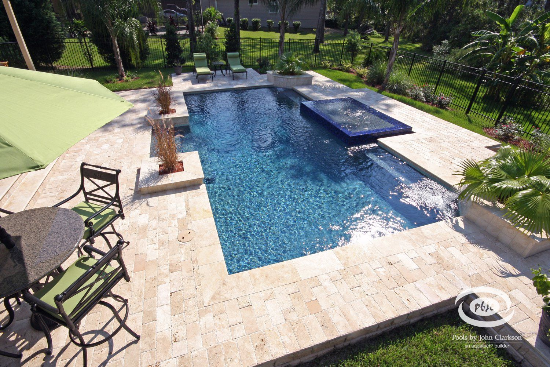 rectangular.. love the colors Luxury swimming pools
