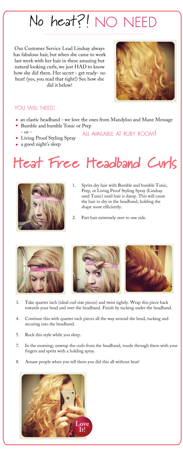 Heat free headbandcurls check out this how to post for amazing