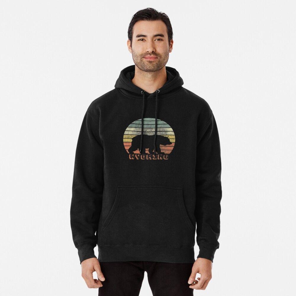 Wyoming Retro Sunset Wyoming Sweatshirt