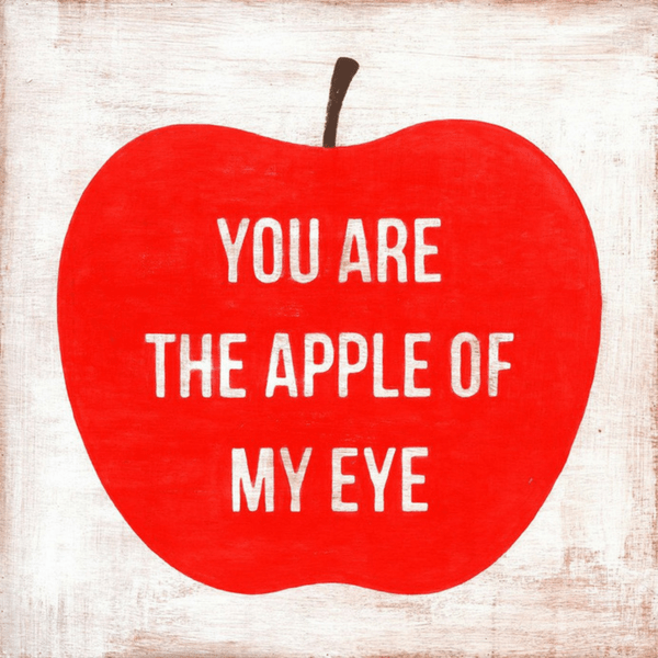 You Are The Apple Of My Eye Art Print Sugarboo Co Sugarboo Designs Small Art Prints Apple Art
