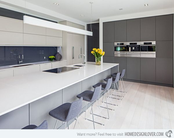 White And Grey Kitchen Ideas 20 astounding grey kitchen designs | design, grey and glasses