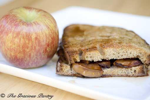 Clean Eating Apple Stuffed French Toast  www.TheGraciousPantry.com