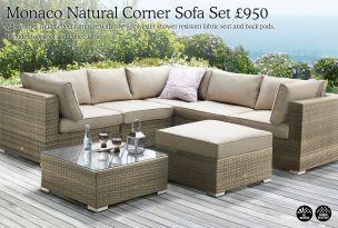 Maze Rattan Natural Milan Corner Sofa Set Green Cushions 4 Seater Recliner Uk Buy Monaco From The Next Online Shop