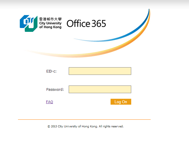 Office 365 Login Apr 2013 SOIMPERFECT CITYU