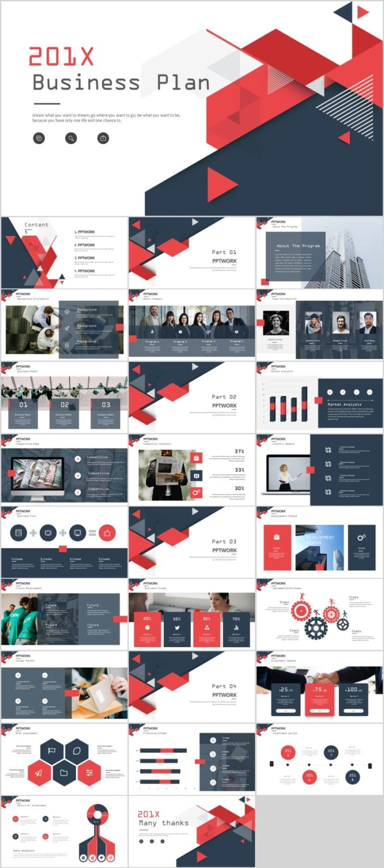 Business plan project financing PowerPoint template