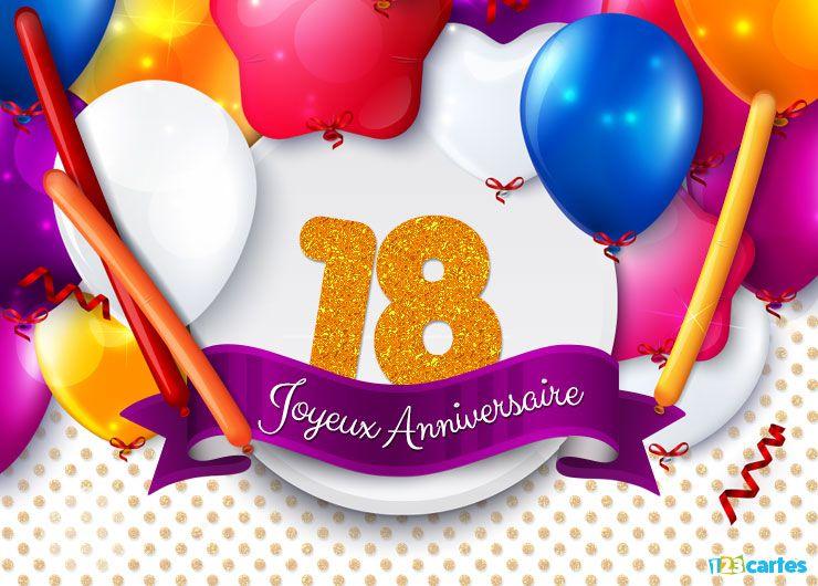 22 cartes joyeux anniversaire age 18