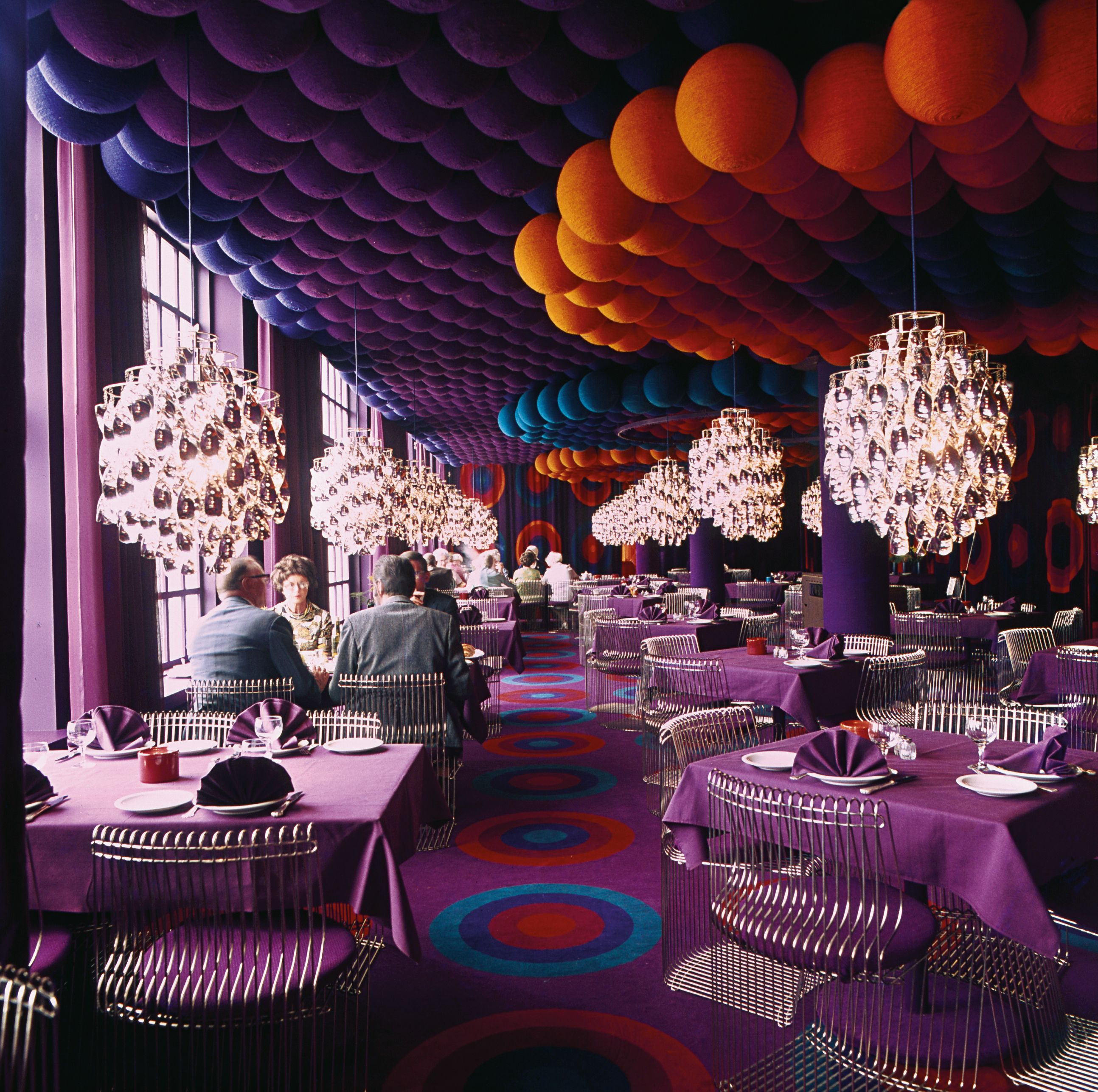 Verner panton interior design - Arna Restaurant Rhus Denmark 1971 Designed By Verner Panton