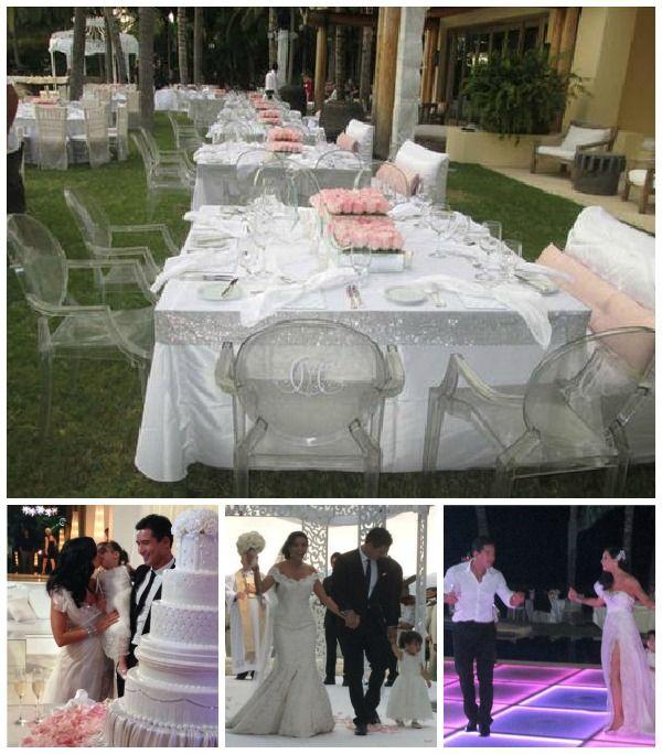 Mario Lopez Wedding Decor