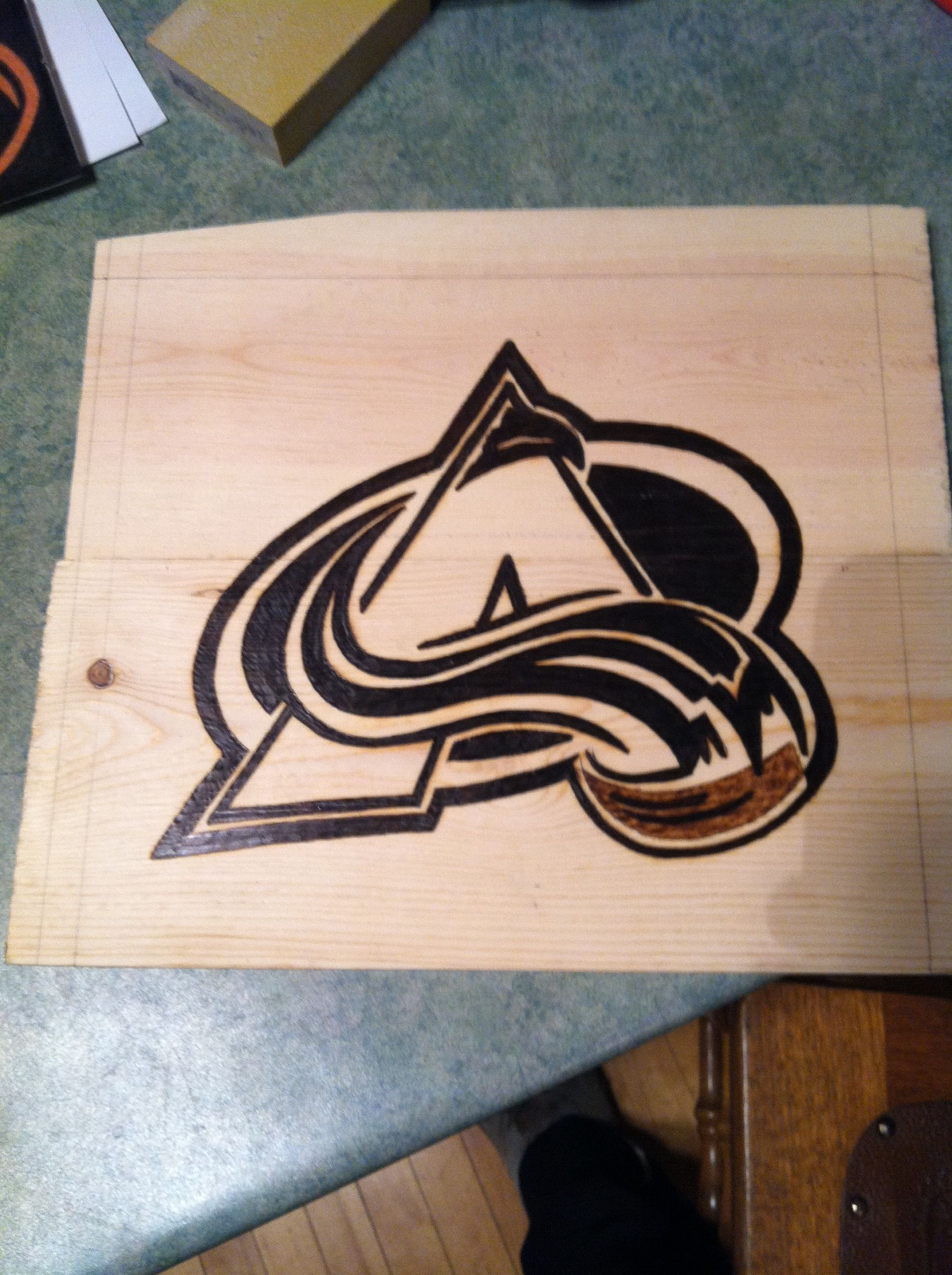 Colorado Avalanche wood burned logo (With images) Brand