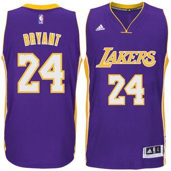 quality design 7e654 00b94 adidas Kobe Bryant Los Angeles Lakers Purple Player Swingman ...