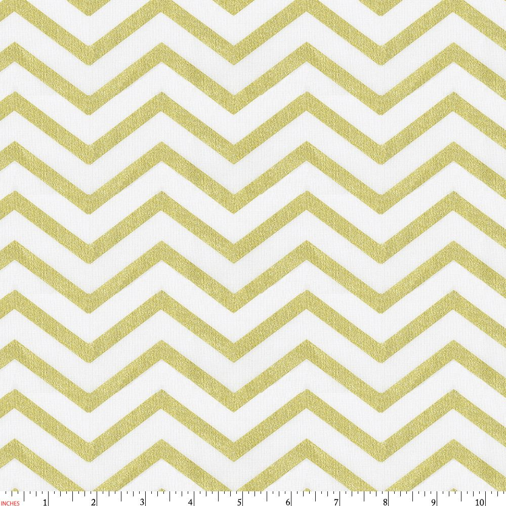 White and Gold Chevron Print by Carousel Designs. | Fabric ...
