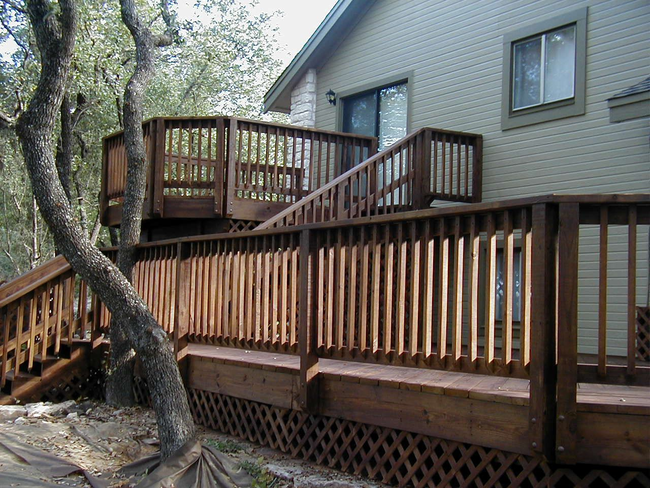Free Home Plans Deck Designs For Split Level Homes House Deck Outdoor Remodel Deck Design