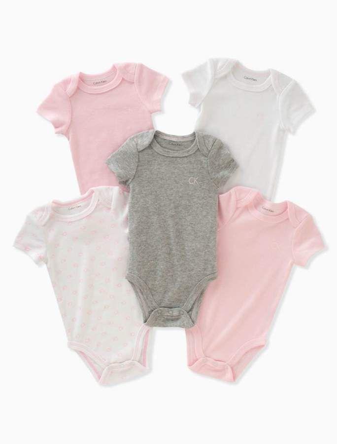 3e297bc7b Baby girls 5-pack logo onesies in 2019 | v day wardrobe | Onesies ...