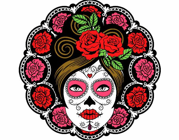 Resultado de imagen para dibujos coloreados de dia de muertos