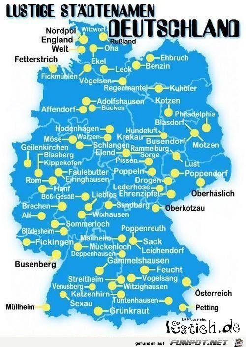 Komischesdeutschland Lustige Ortsnamen Lustig Lustige Bilder