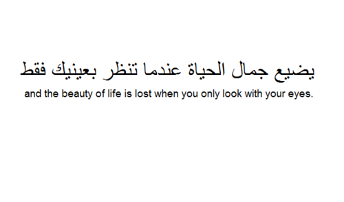 And The Beauty Of Life Is Lost When You Only Look With Your Eyes