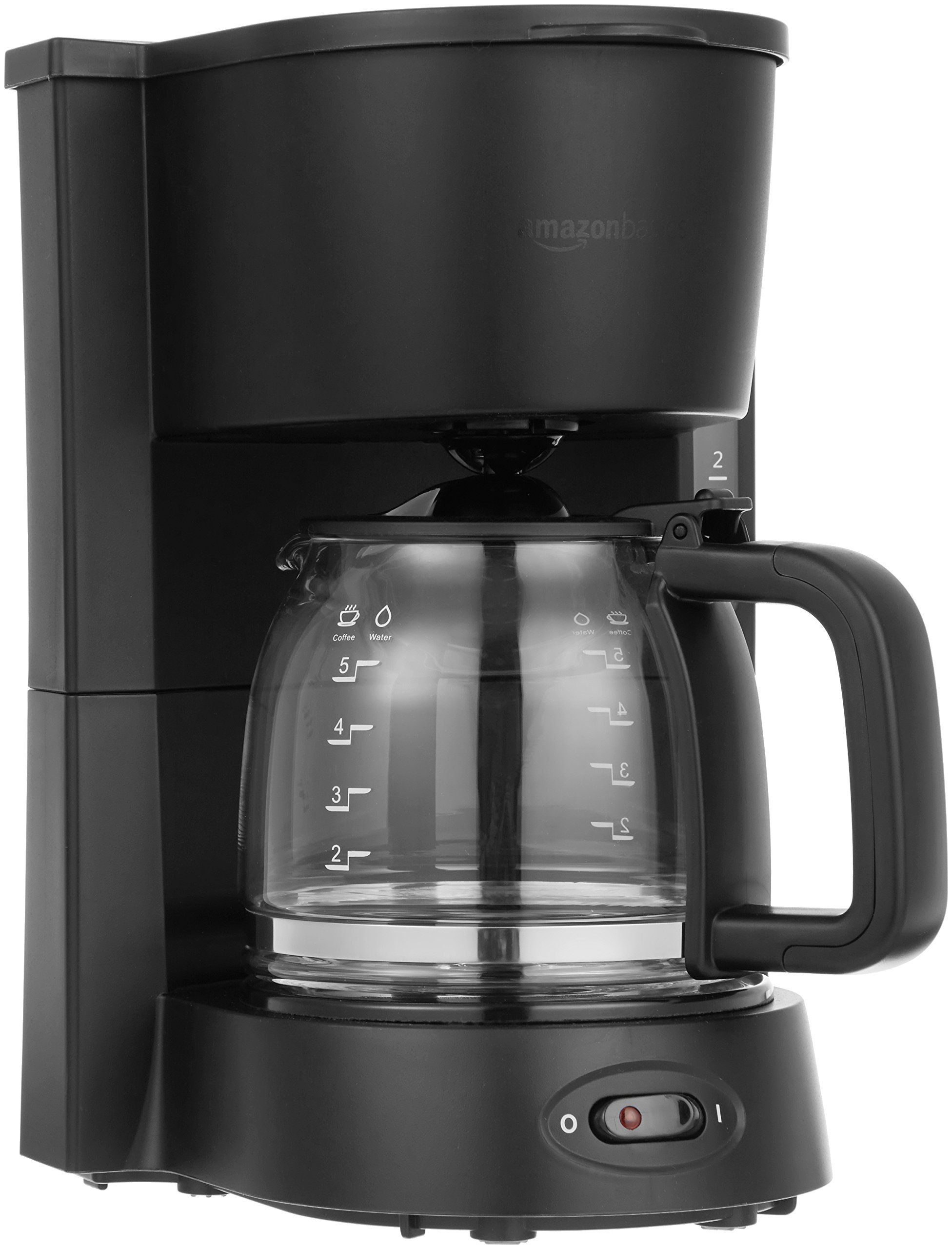 AmazonBasics 5Cup Coffeemaker with Glass Carafe *** To