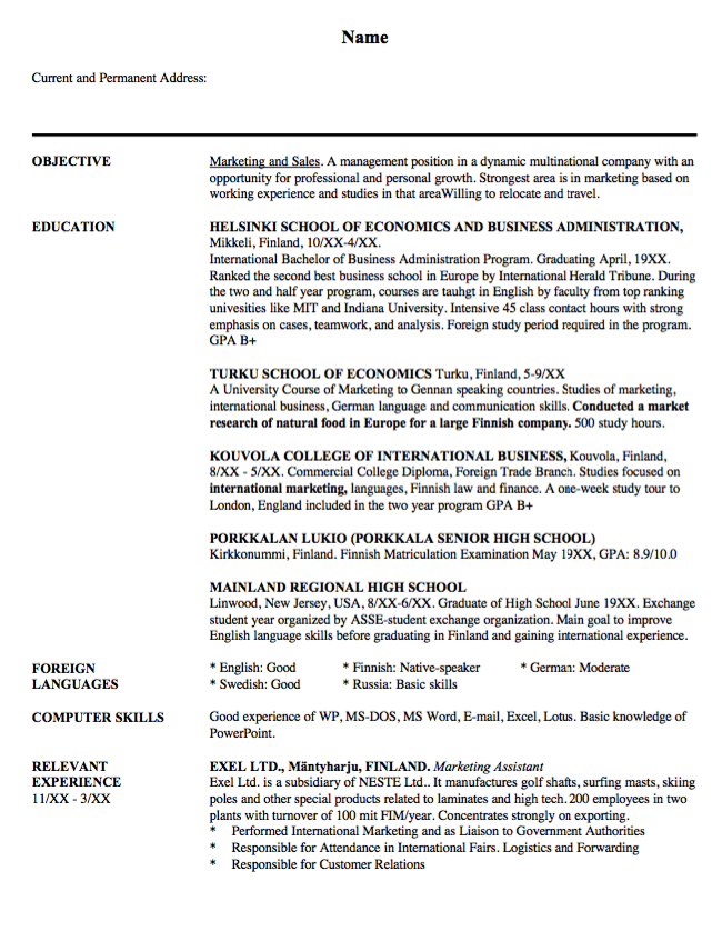 Sample Resume Sales And Marketing  HttpResumesdesignCom