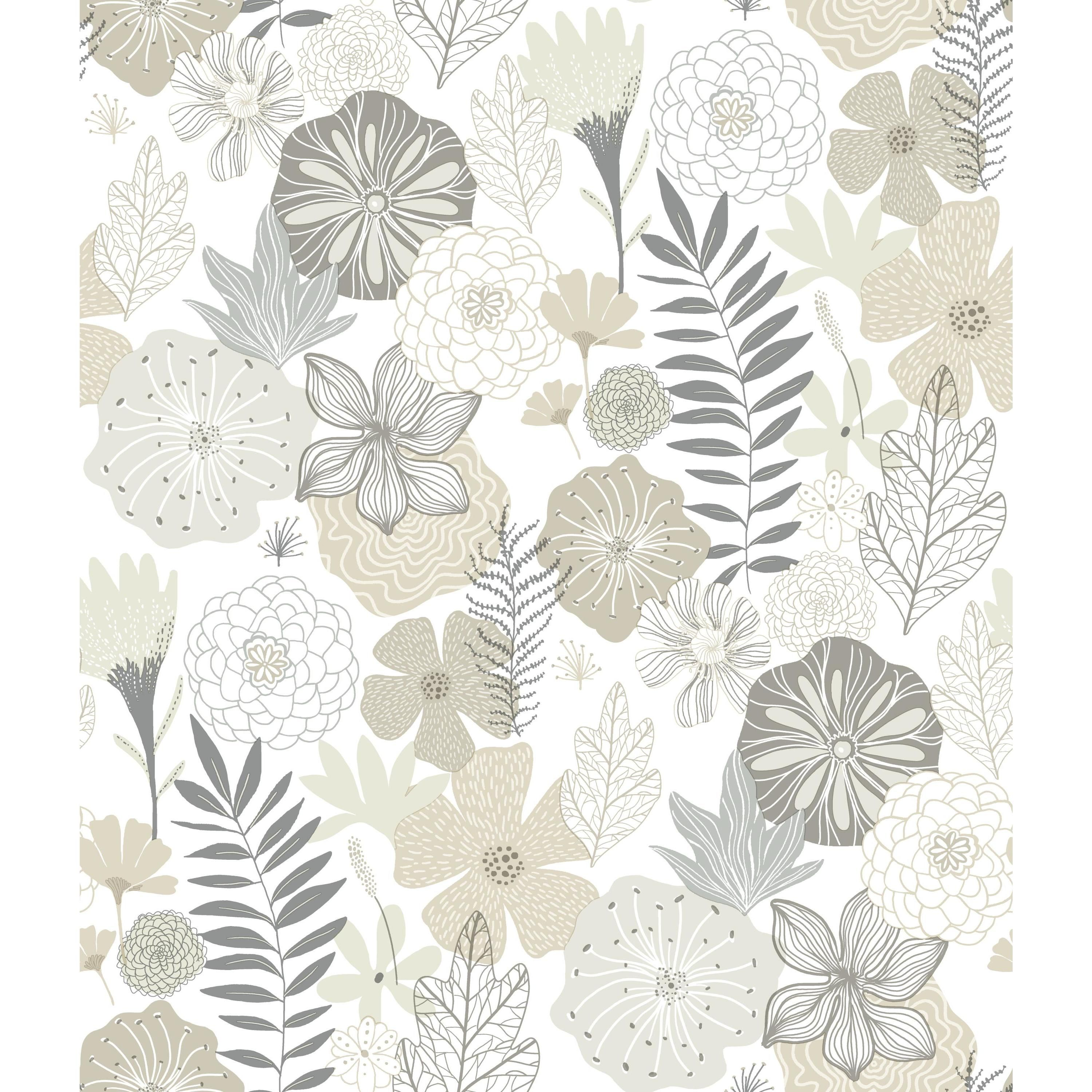 Roommates Perennial Blooms Peel And Stick Wallpaper Walmart Com Peel And Stick Wallpaper Vinyl Wallpaper Peelable Wallpaper