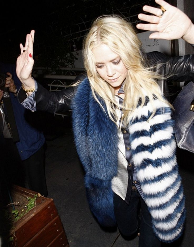 Mary-Kate Olsen looks ridiculously cool in a Prada fur. // #Style