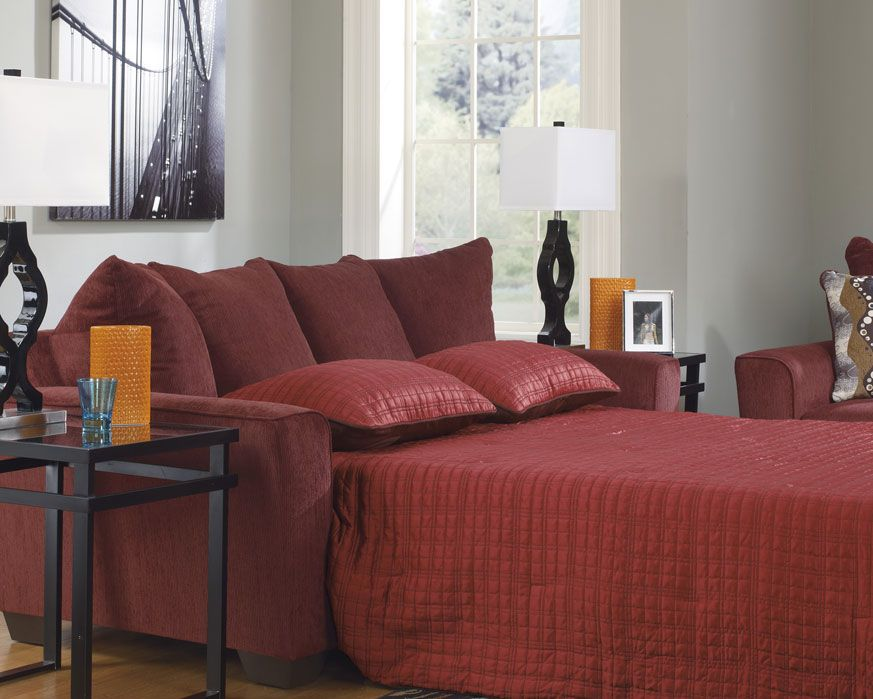 269 brogain burgundy sleeper sofa Colorful Sofa Sets Pinterest