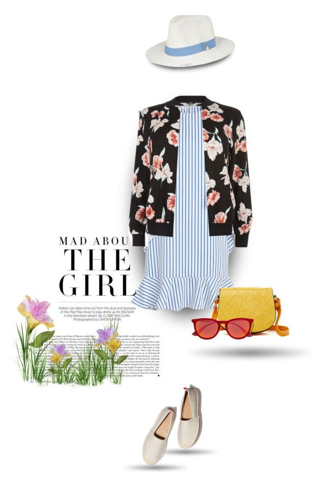 """""""Stripe & floral"""" by bliznec ❤ liked on Polyvore featuring Kershaw, New Look, 5th Avenue Designs, Melissa Odabash and Ray-Ban"""