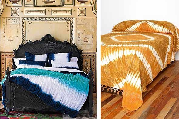Tie Dye Bedding By Anthropologie Left En Urban Outers Right