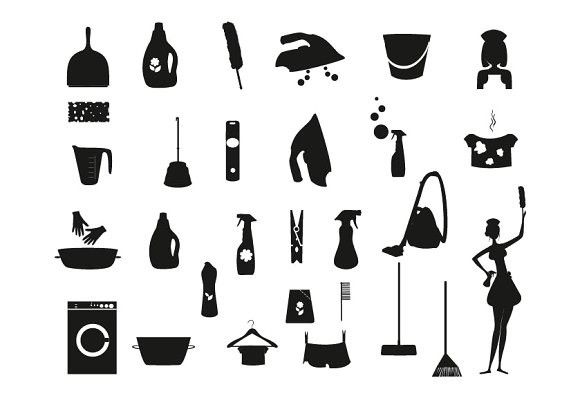 silhouette laundry and washing icons laundry icons and icon set